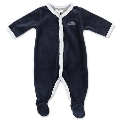 Hugo Boss navy blue chenille romper