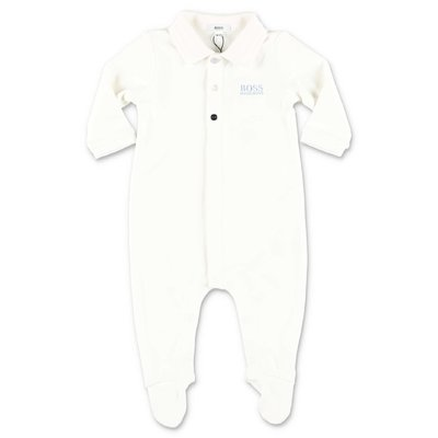 HUGO BOSS white cotton jersey romper
