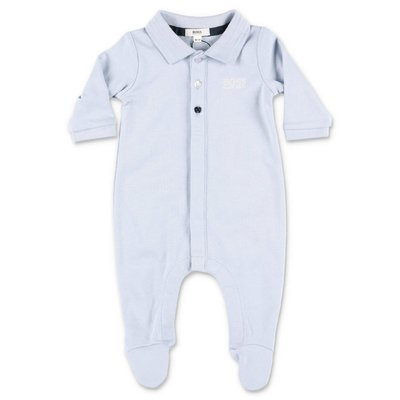 HUGO BOSS light blue cotton jersey romper