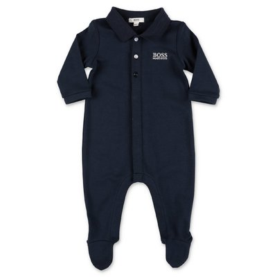 HUGO BOSS navy blue cotton jersey romper