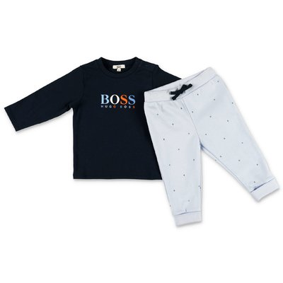 Hugo Boss navy & light blue cotton jersey outfit
