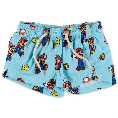 MC2 Saint Barth costume shorts da mare celeste Super Mario in nylon riciclato