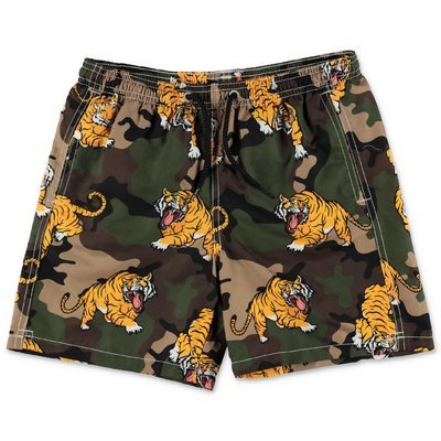 MC2 Saint Barth camouflage tiger theme recycled nylon swimwear shorts
