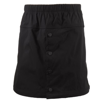 Black jacquard logo detail cotton blend skirt