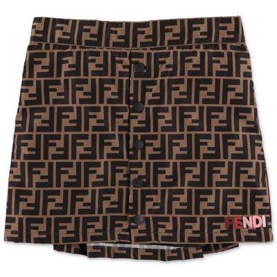 FENDI zucca print cotton skirt