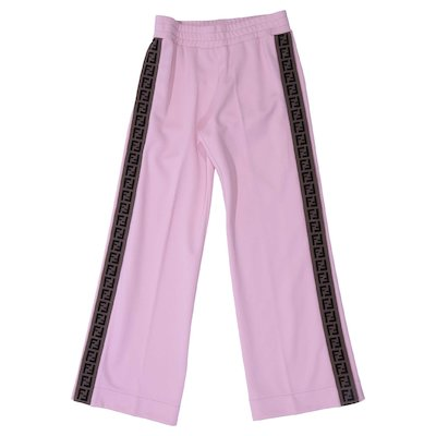 Pink cotton blend pants