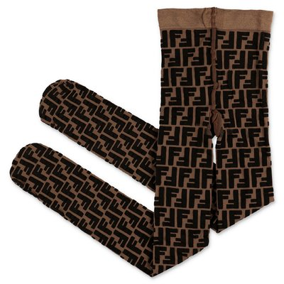 FENDI calze zucca print in nylon