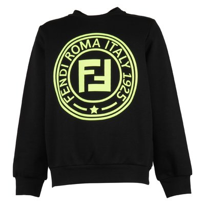 Black FF logo cotton sweatshirt