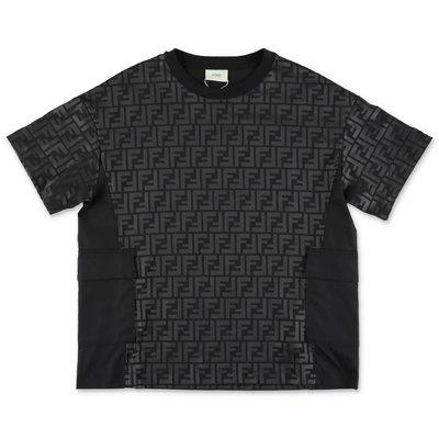 Black FF logo cotton jersey FENDI t-shirt