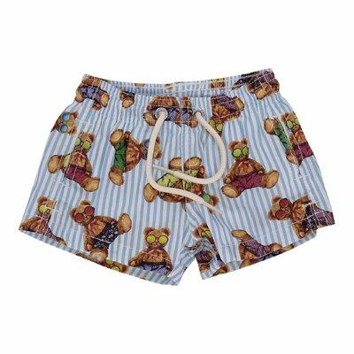 Costume shorts da mare stampato in nylon