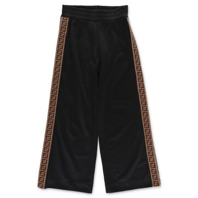 FENDI black triacetate wide pants