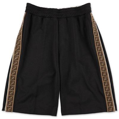 FENDI shorts neri in misto cotone