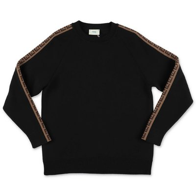FENDI black pure virgin wool knit jumper