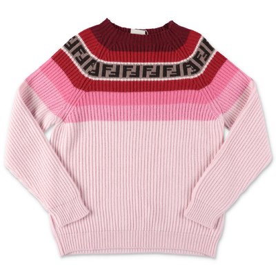FENDI pink virgin wool blend knit jumper
