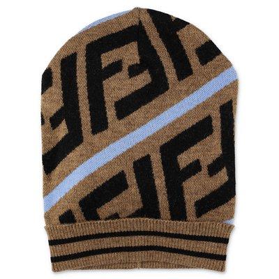 FENDI zucca print wool knit hat