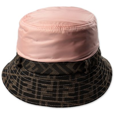 FENDI zuca print techno fabric cloche hat