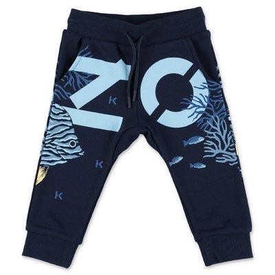 KENZO navy blue cotton sweatpants
