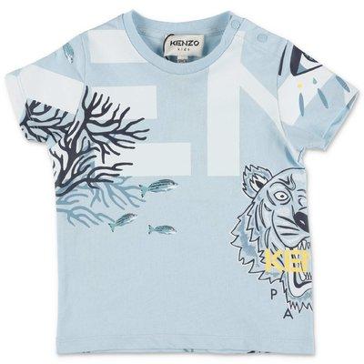 KENZO light blue cotton jersey t-shirt