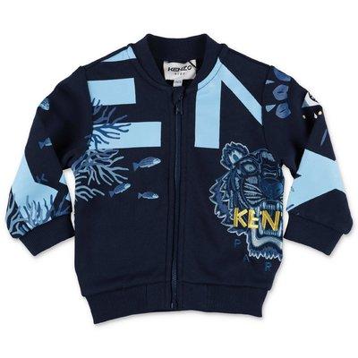 KENZO navy blue cotton sweatshirt