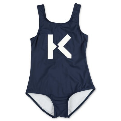 KENZO navy blue lycra one-piece swimsuit