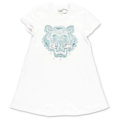 KENZO white cotton Tiger dress