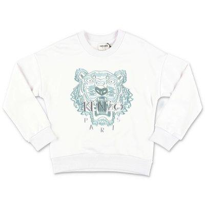KENZO white cotton Tiger sweatshirt