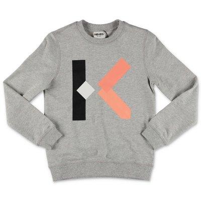 KENZO melange grey cotton sweatshirt