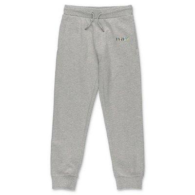 KENZO melange grey cotton sweat pants