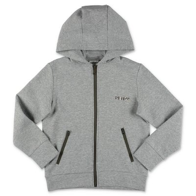 KENZO melange grey cotton sweatshirt hoodie