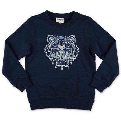 KENZO navy blue cotton Tiger sweatshirt