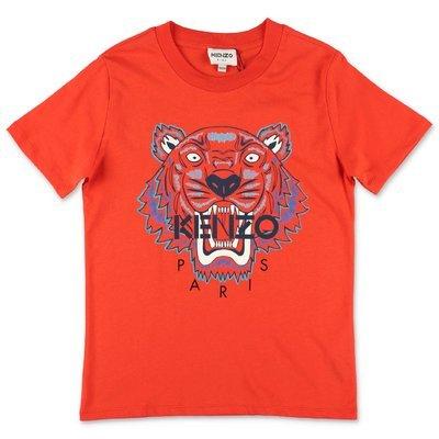 KENZO orange cotton jersey t-shirt