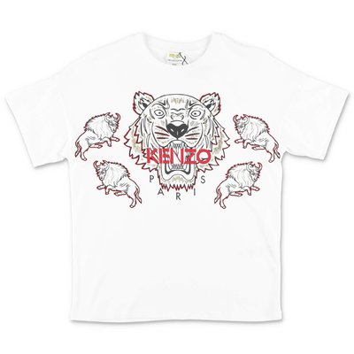 KENZO white cotton jersey t-shirt