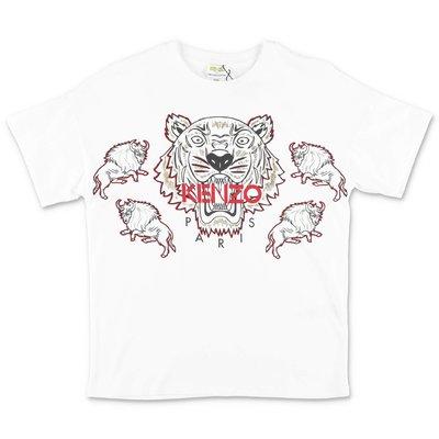 KENZO t-shirt bianca in jersey di cotone