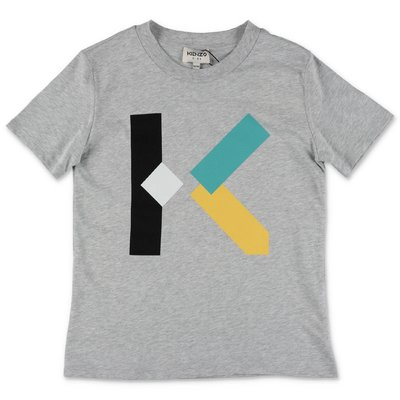 KENZO grey cotton jersey t-shirt