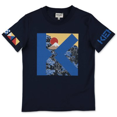 KENZO navy blue cotton jersey t-shirt