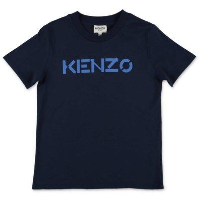 KENZO navy blue cotton jersey t-shirt