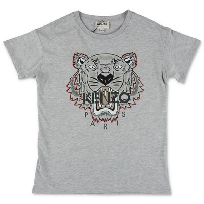 KENZO melange grey cotton jersey t-shirt