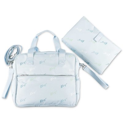 KENZO light blue nylon changing bag