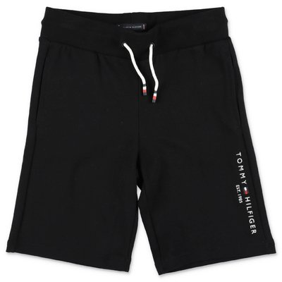 Tommy Hilfiger black cotton sweat shorts