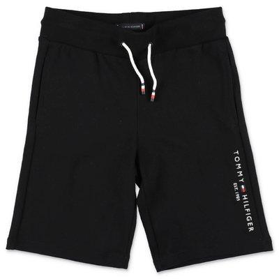 Tommy Hilfiger shorts neri in felpa di cotone