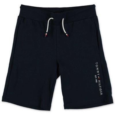 Tommy Hilfiger shorts blu navy in felpa di cotone