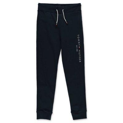 Tommy Hilfiger pantaloni blu navy in felpa di cotone