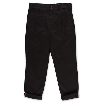 Tommy Hilfiger black cotton gabardine pants