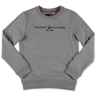 Tommy Hilfiger melange grey cotton sweatshirt