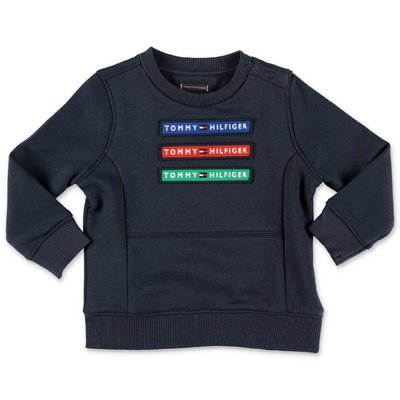 Tommy Hilfiger navy blue organic cotton sweatshirt