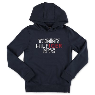 Tommy Hilfiger navy blue cotton hoodie