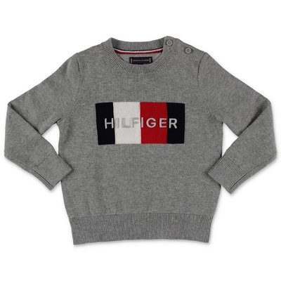 Tommy Hilfiger dark grey cotton knit jumper