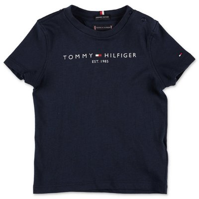 Tommy Hilfiger t-shirt blu navy in jersey di cotone