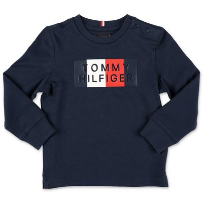 Tommy Hilfiger logo navy blue cotton jersey t-shirt