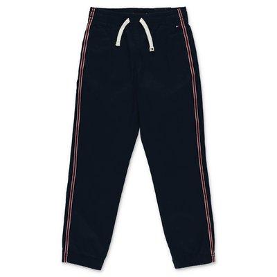 Tommy Hilfiger pantaloni blu navy in gabardina di cotone